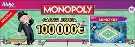 5 000 euros recemment gagne sur la carte à gratter Monopoly